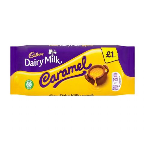 Caramel Dairy Milk Chocolate Bar Cadbury 120g
